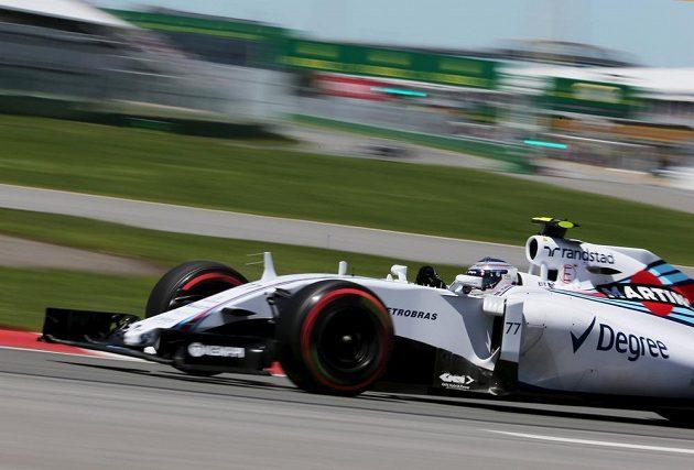 Fin Valtteri Bottas z Williamsu během kvalifikace na Velkou cenu Kanady.