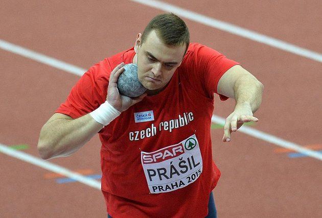 Ladislav Prášil ve finále soutěže koulařů.