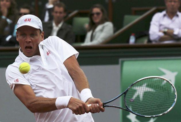 Tomáš Berdych v prvním kole French Open.