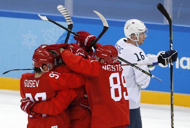 Hokejový výběr OSR vstoupil do duelu se Slovinskem dobře, rychle vedl o dvě branky.