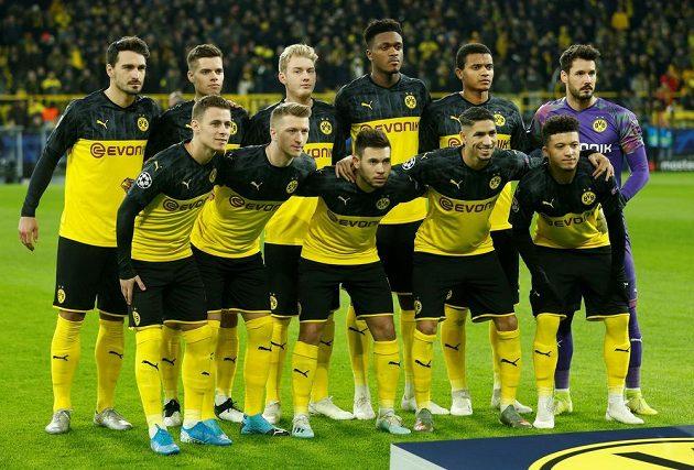 Fotbalisté Borussie Dortmund před utkáním Ligy mistrů s pražskou Slavií.