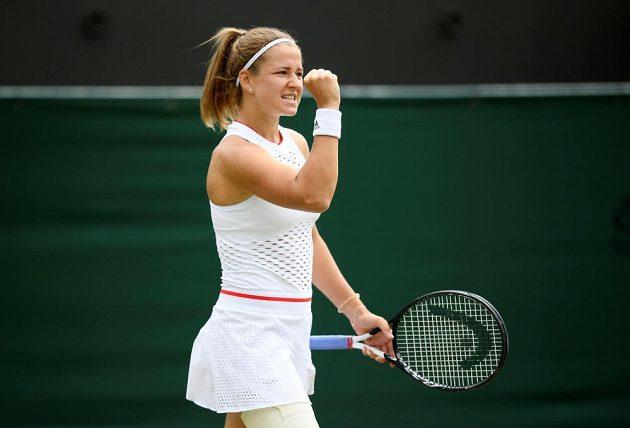 Česká tenistka Karolína Muchová během Wimbledonu.