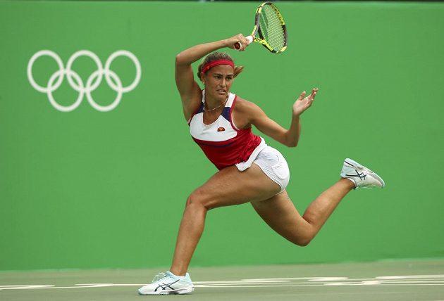 Portoričanka Monica Puigová v zápase proti Petře Kvitové.