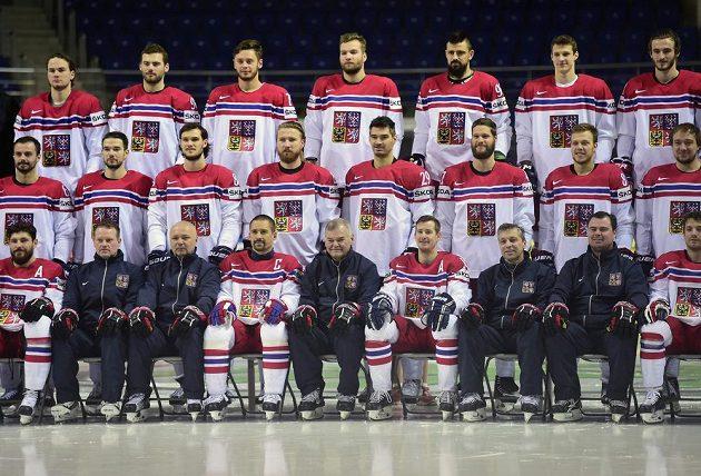 Fotografie českého hokejového týmu na MS v Moskvě.