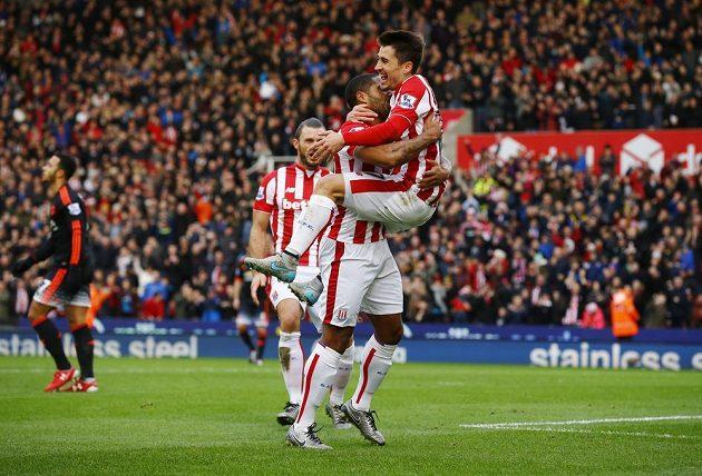 Bojan Krkič oslavuje gól do sítě Manchesteru United