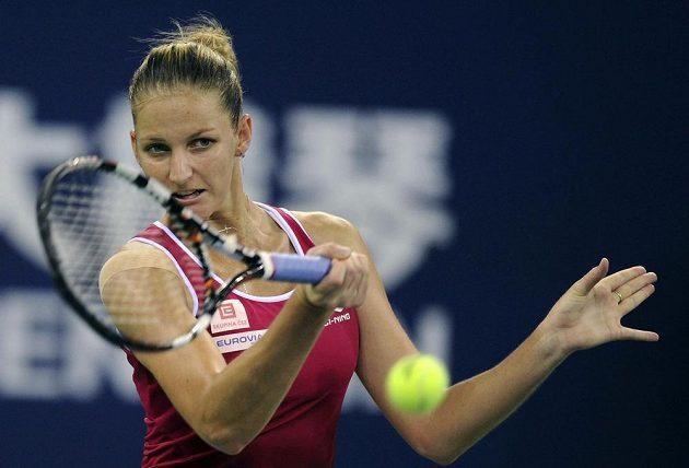 Talentovaná česká tenistka Karolína Plíšková v semifinále Elite Trophy.
