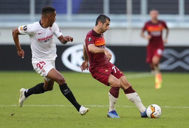 Sevilla v prvním poločase zápasu proti AS Řím jasně kralovala