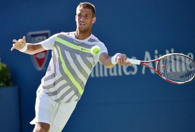Slovenský tenista Martin Kližan v utkání 2. kola US Open s Tomášem Berdychem.
