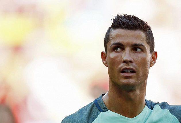 Cristiano Ronaldo během utkání s Maďarskem.