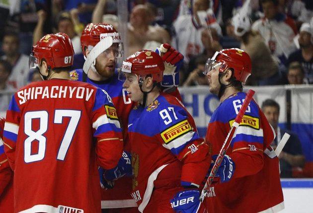 Ruská radost v utkání se Slovenskem.