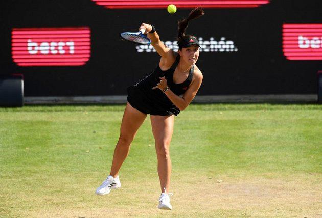 Američanka Jessica Pegulaová při zápase s Karolínou Plíškovou.