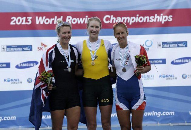 Mirka Knapková (zcela vpravo) nakonec vyválčila bronz.