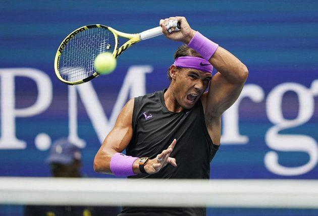 Rafael Nadal při finále US Open.