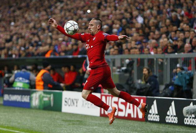 Franck Ribéry v utkání proti Atlétiku.