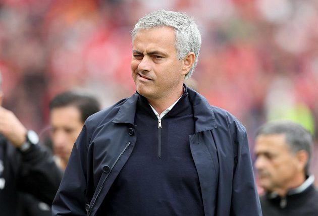 Manažer Rudých ďáblů José Mourinho...