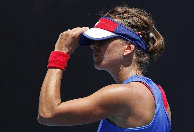 Barbora Strýcová už jako by na letošním Australian Open vyhlížela další soupeřku.