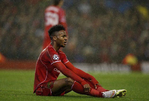Liverpoolský Raheem Sterling během utkání Ligy mistrů s Basilejí.