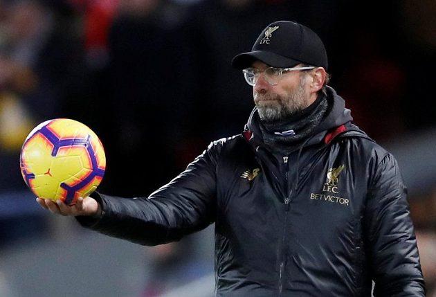 Německý manažer Liverpoolu Jürgen Klopp během utkání Premier Legaue.