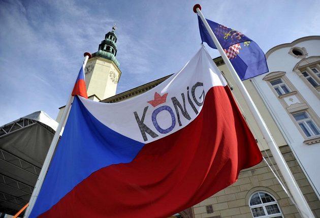 Lidé v Moravské Třebové přivítali svého rodáka, cyklistu Leopolda Königa.