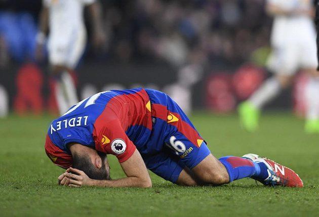 Zklamaný Joe Ledley z Crystal Palace.