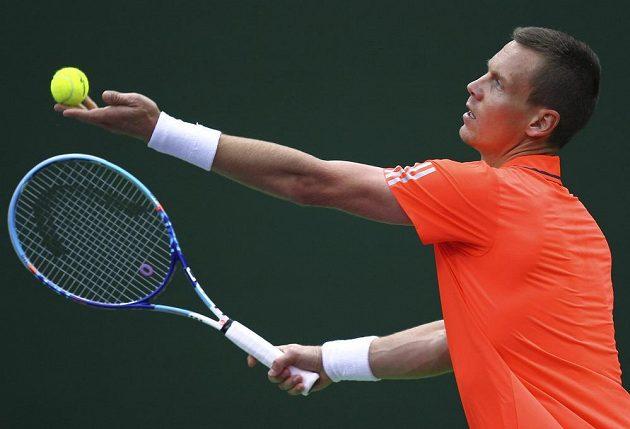 Český tenista Tomáš Berdych postoupil na turnaji v Dauhá do čtvrtfinále.