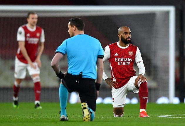 Fotbalisté Arsenalu před zápasem s pražskou Slavií