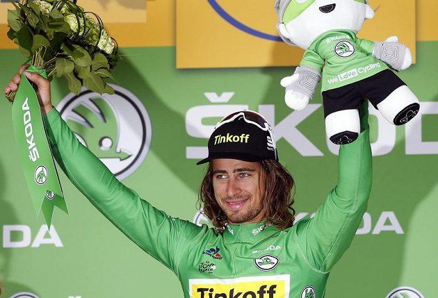 Peter Sagan se znovu oblékl do zeleného dresu pro lídra bodovací soutěže Tour.