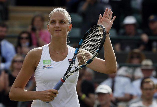Karolína Plíšková září spokojeností. Favorizovaná Češka zvládla postup do 2. kola Wimbledonu bez potíží.