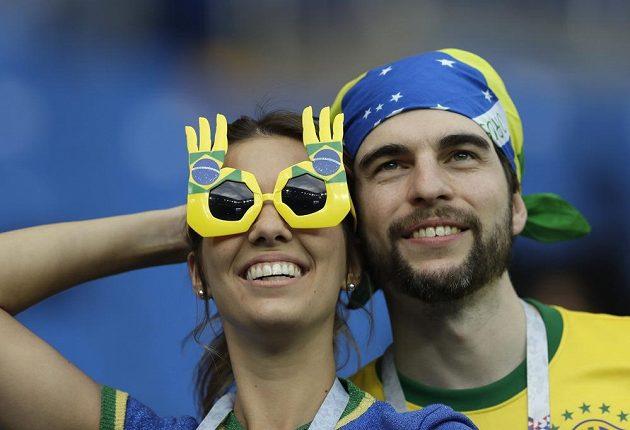 Brazilští fanoušci na MS v Rusku.