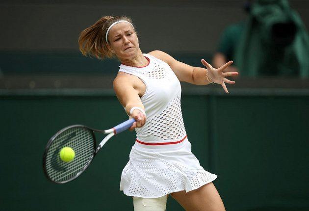Karolína Muchová ve čtvrtfinále s Elinou Svitolinovou z Ukrajiny.