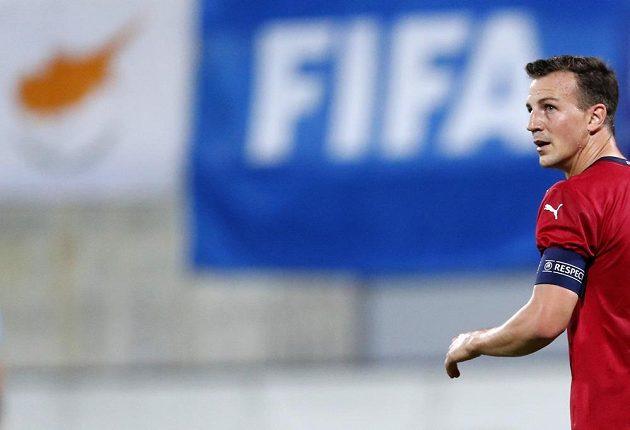 Kapitán českého výběru Vladimír Darida v závěru první půle přátelského utkání na Kypru vstřelil z penalty druhý gól hostí.