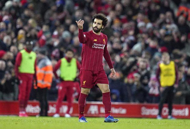 Liverpoolský kanonýr Mohamed Salah.