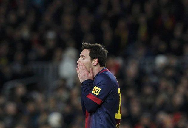 Barcelonský Lionel Messi neměl proti Realu svůj den, podobně jako jeho spoluhráči.