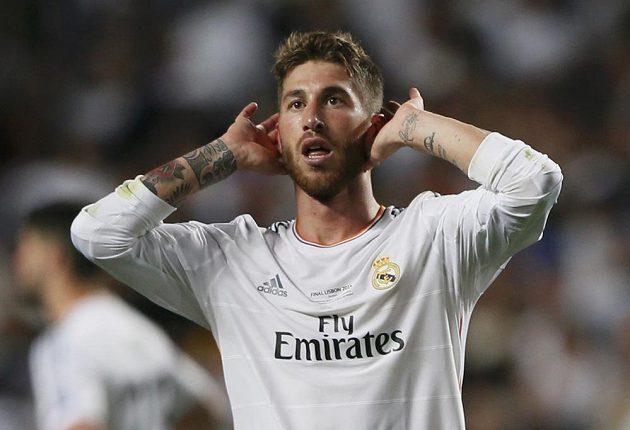 Sergio Ramos z Realu po gólu.