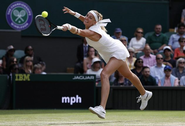 Petra Kvitová bojuje o čtvrtfinále Wimbledonu