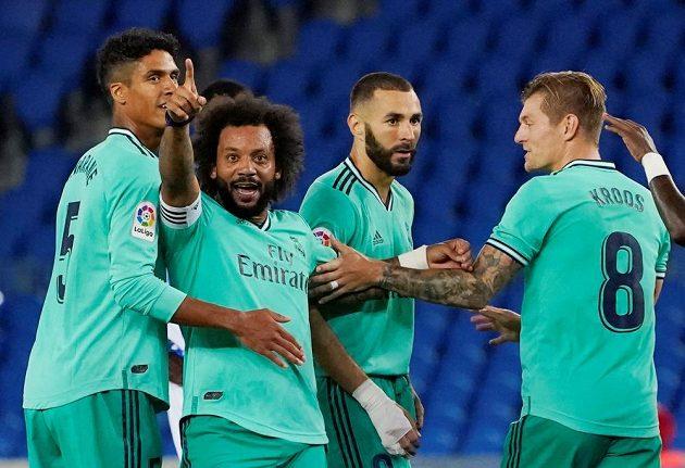 Radost v podání fotbalistů Realu Madrid.