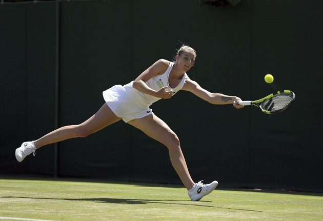 Kristýna Plíšková skončila ve Wimbledonu ve 2. kole.