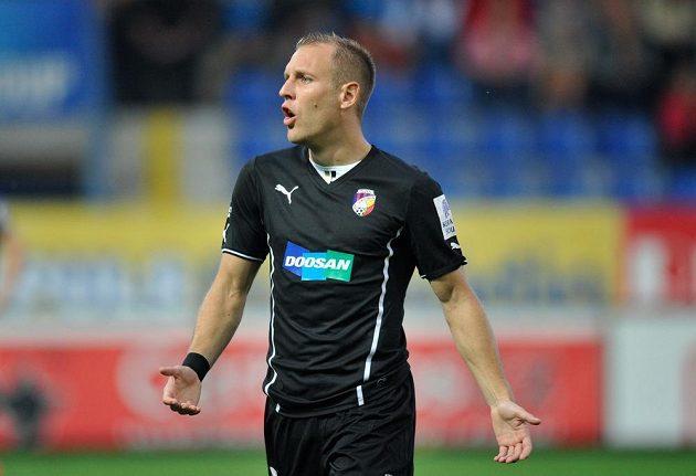 Záložník Plzně Daniel Kolář v utkání proti Liberci.