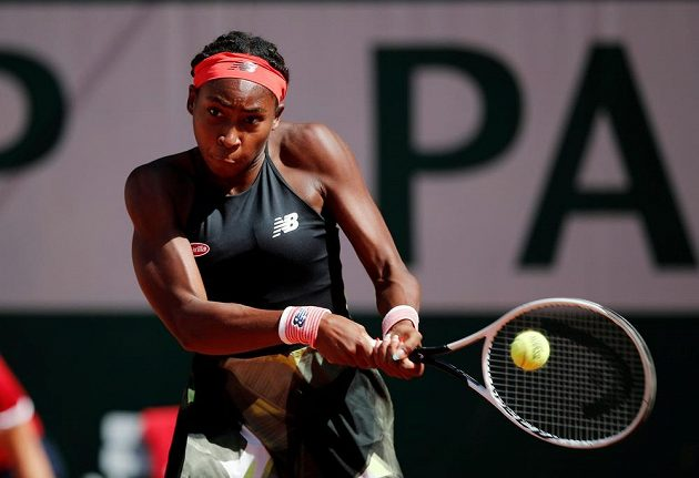 Američanka Cori Gauffová ve čtvrtfinále French Open.