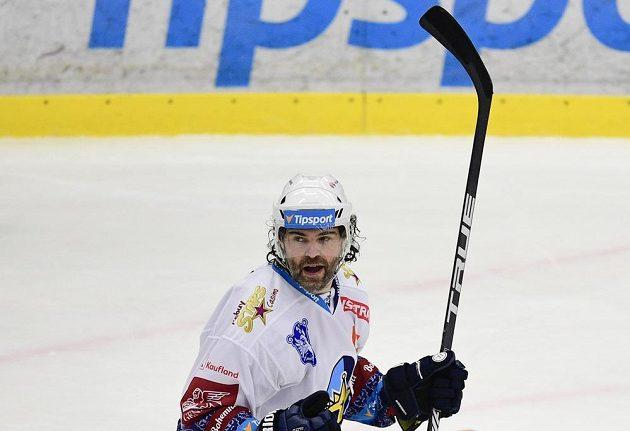 Jaromír Jágr se raduje z druhého gólu Kladna proti Spartě.