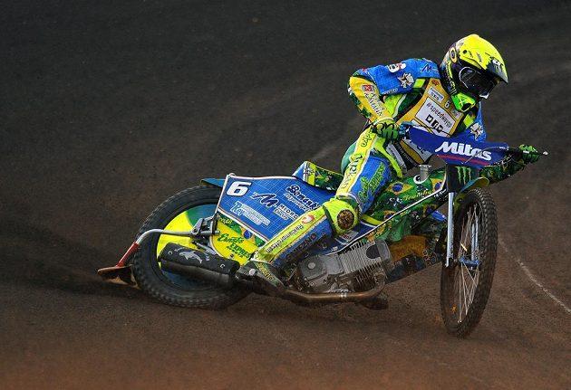 Švédský jezdec Antonio Lindbäck během Grand Prix v Praze.