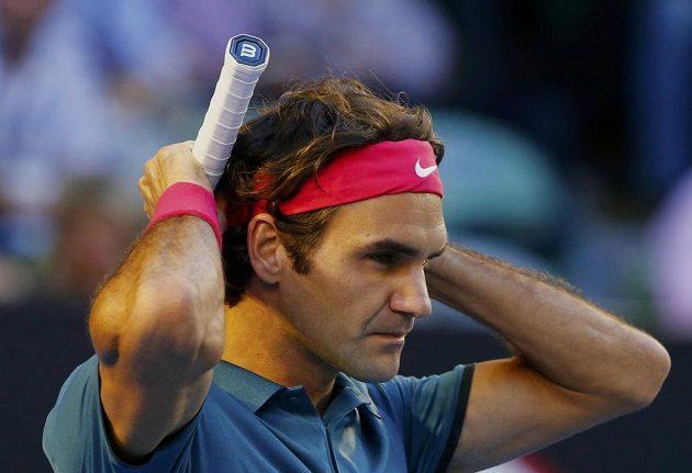 Švýcar Roger Federer ve čtvrtfinále Australian Open.