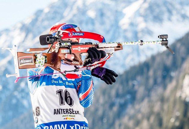 Veronika Vítková během vytrvalostního závodu žen v Anterselvě.