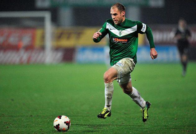 Jablonecký útočník Michal Hubník v utkání 14. kola Gambrinus ligy proti Příbrami.
