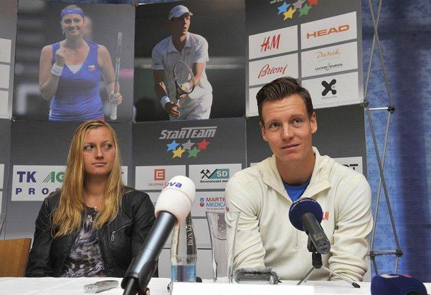 Nejlepší čeští tenisté Petra Kvitová a Tomáš Berdych.