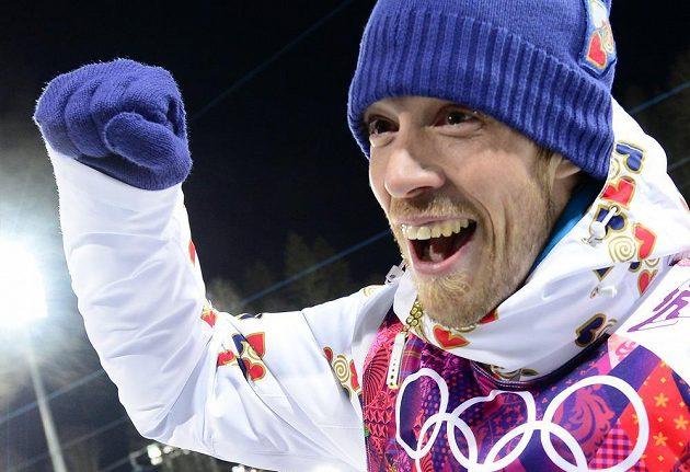 Biatlonista Jaroslav Soukup vybojoval bronzovou medaili.