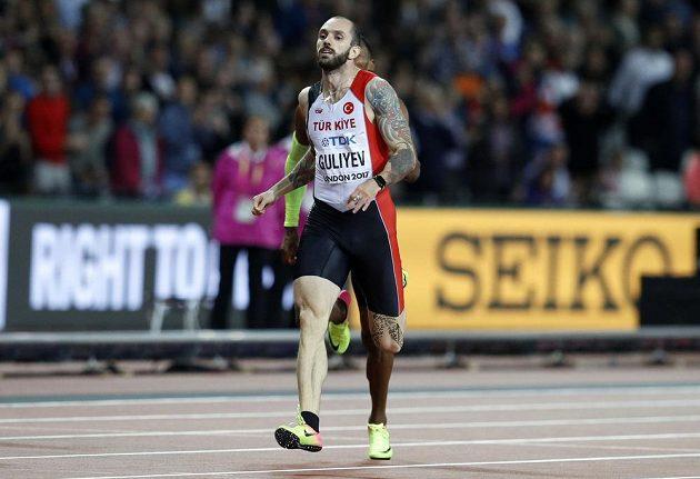 Turecký sprinter Ramil Gulijev vyhrál nečekaně běh na 200 metrů na atletickém MS v Londýně.