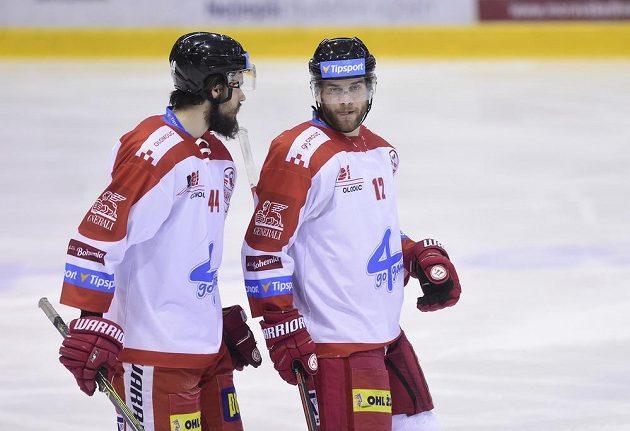 Zleva David Ostřížek z Olomouce a Jan Knotek z Olomouce.