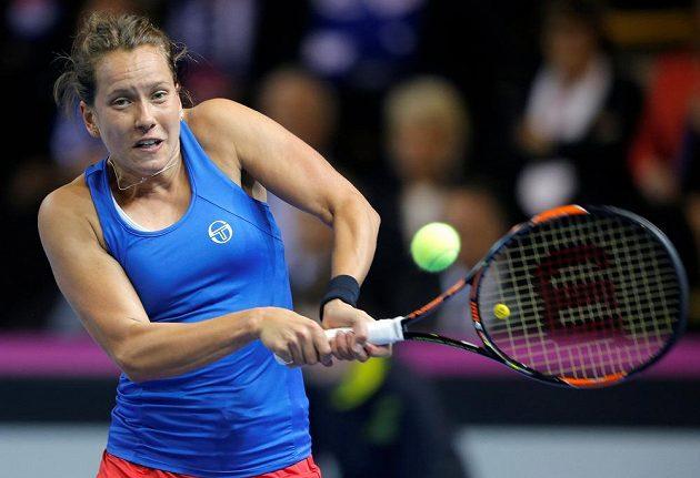 Barbora Strýcové ve dvouhře finále Dec Cupu.