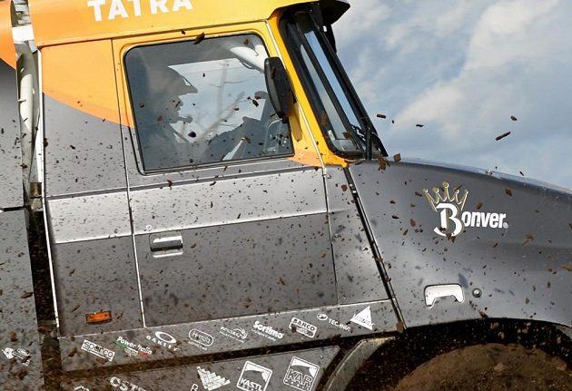 Pilot týmu Bonver Dakar Project Tomáš Vrátný při testech ve slovenské Senici.